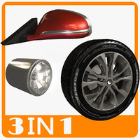 3D wheel light car