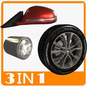 3D wheel light car