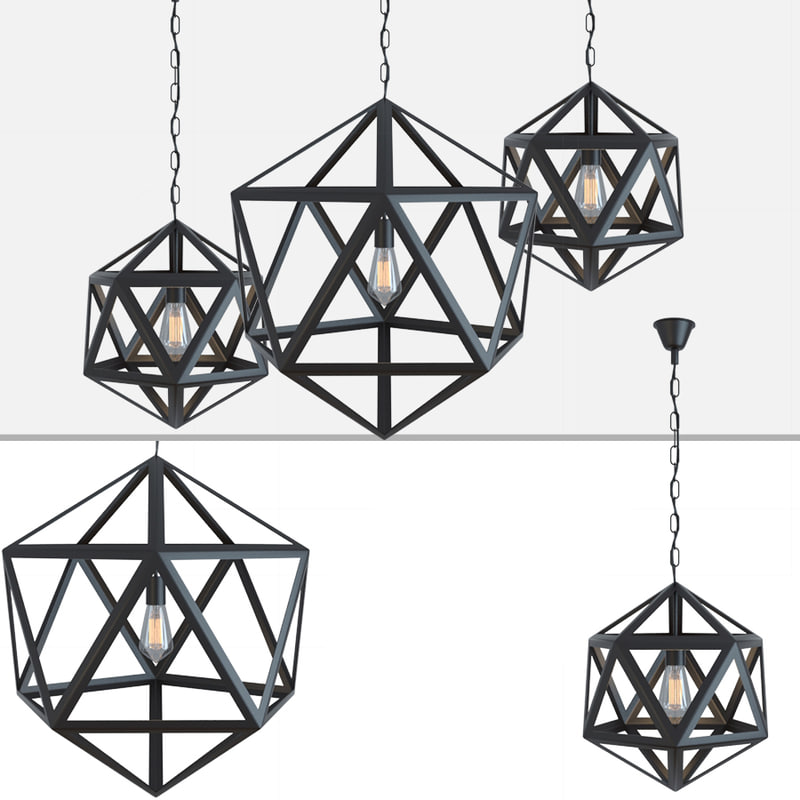 chandelier loft polyedra 3D