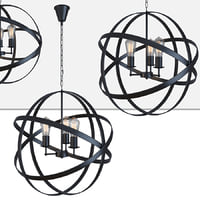 HANGING LAMP IRON FARN FLAT PENDANT