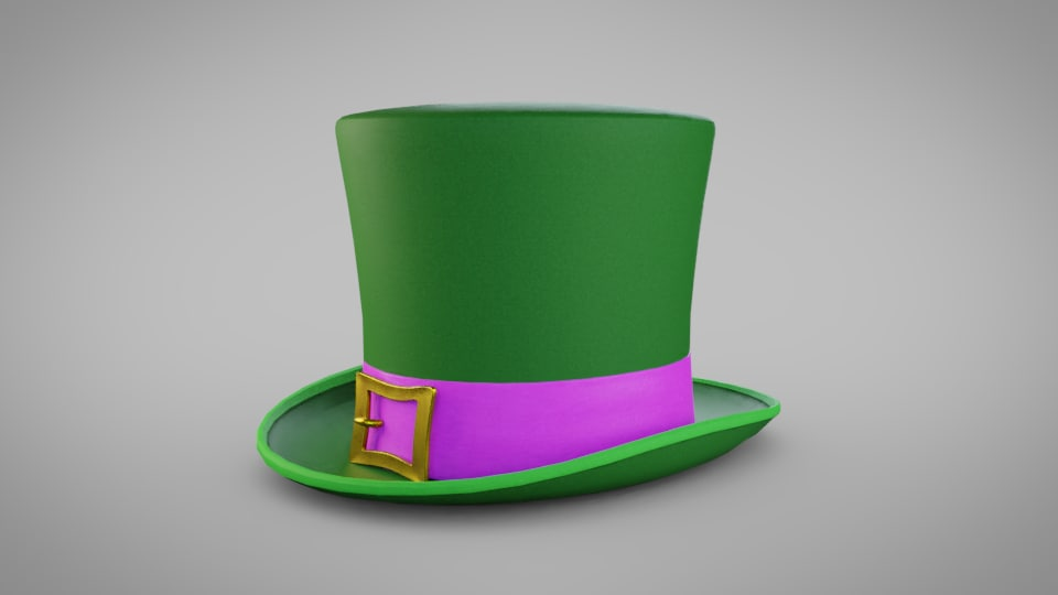 3D model hat leprechaun