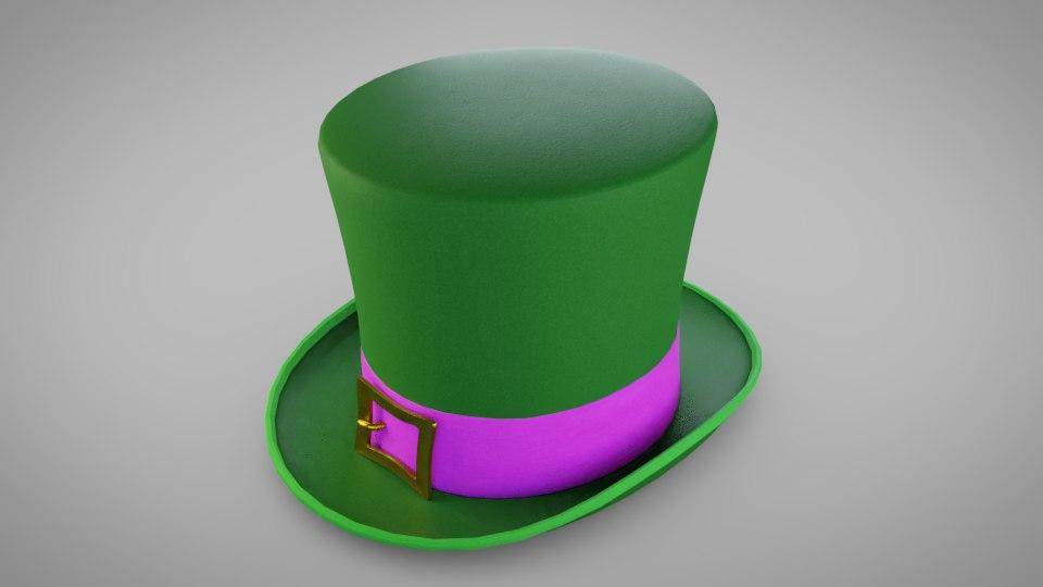 c1419fe9 3D model hat leprechaun; 3D model hat leprechaun ...
