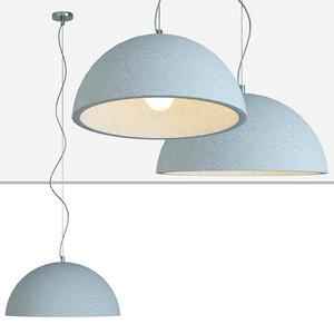 3D light grey scale pendant model