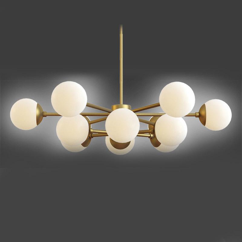 3D karrington chandelier bronze