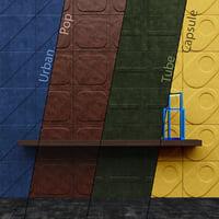 CUIR AU CARRE Wall Panels Part 1