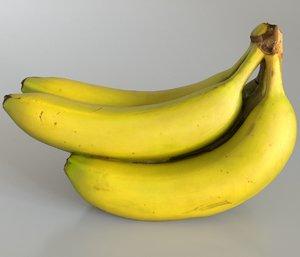 bunch bananas 3D model