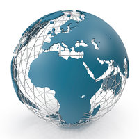 world wire globe 3D