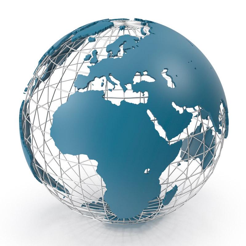 world wire globe 3D