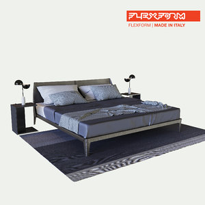 flexform isabel bed table 3D