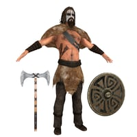 barbarian rigging man 3D