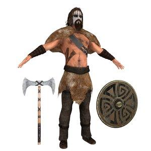 barbarian rigging man 3D