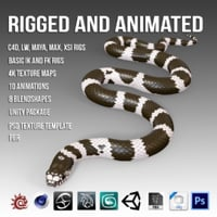 3D model snake animation