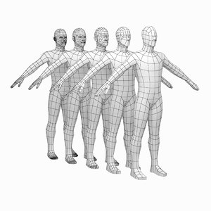 3D mesh male body based