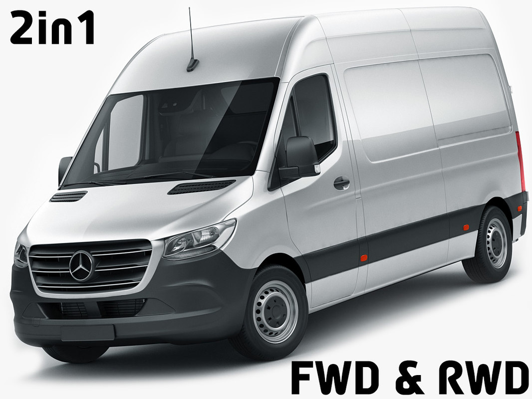 mercedes sprinter 2018 roof 3D model
