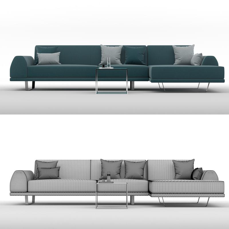 sectional sofa portland 3 3D model