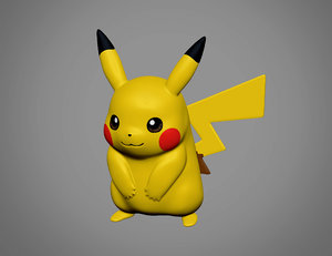 3D pokemon pikachu model