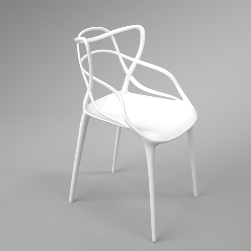 3D model interior kartell masters white