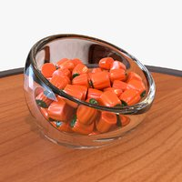 candy pumpkin halloween 3D