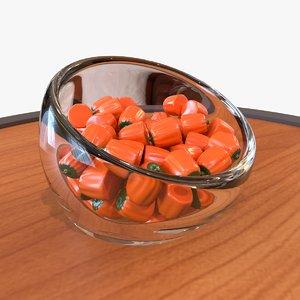 candy pumpkin halloween 3D