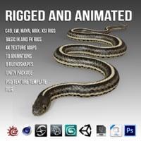 pbr garter snake 3D model
