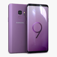 3D samsung galaxy s9 lilac model