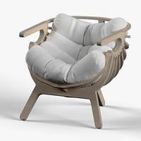 3D model shell lounge chair
