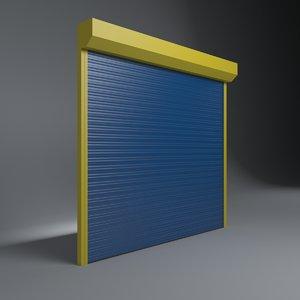 shop garage door 3D model