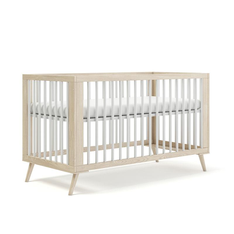wooden children cabinet 3D