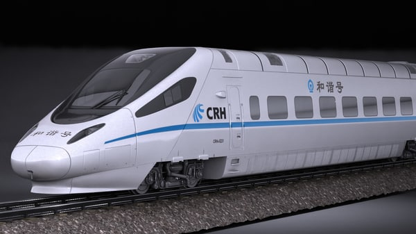 3D crh5 speed train model