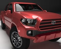 3D model toyota tacoma 2016 long