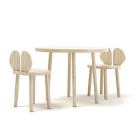 wooden children s table chairs 3D model