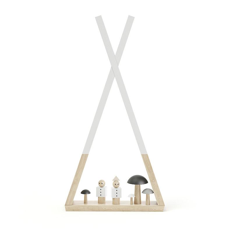 3D teepee children shelf decorations model