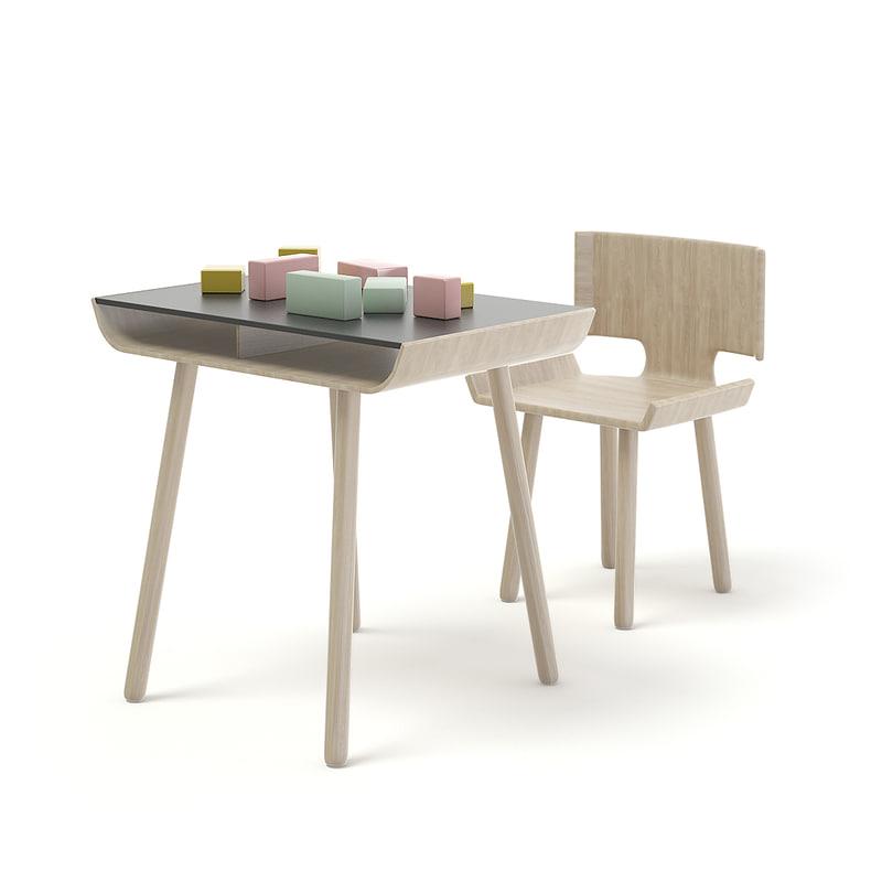 children wooden table blocks model