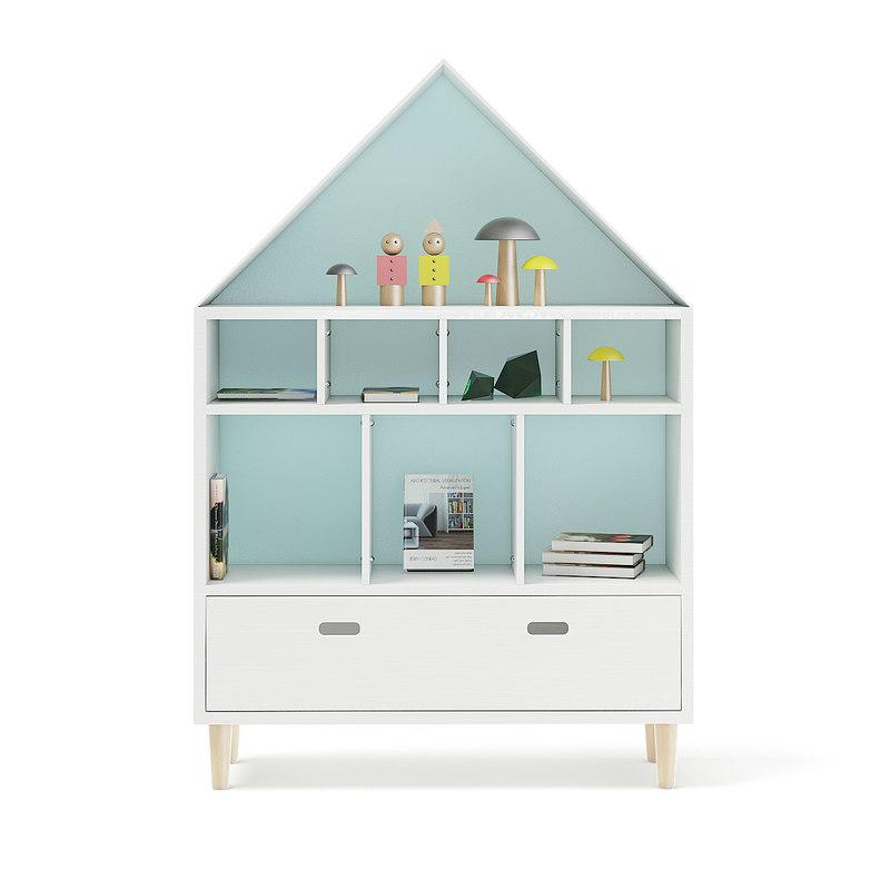 house shape shelf decorations 3D model