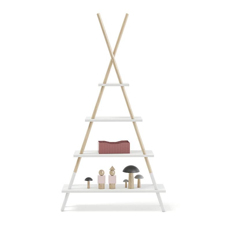 3D teepee shape shelf decorations