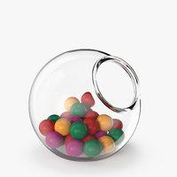 3D model vase sweets