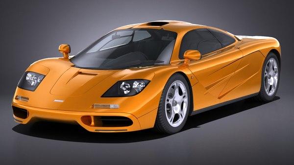 3D mclaren f1 1994 model