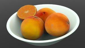 3D oranges basket model