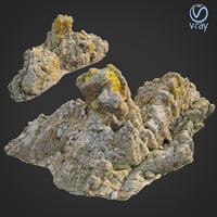 scanned rock cliff k 3D model