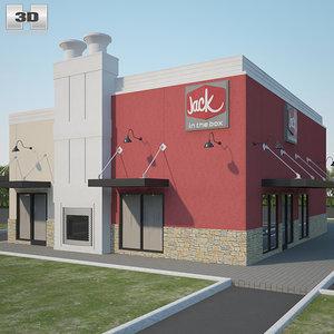 jack box restaurant 3D model