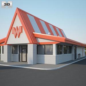 3D model whataburger restaurant