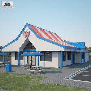 3D whataburger restaurant