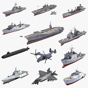navy aircraft carriers 3D model