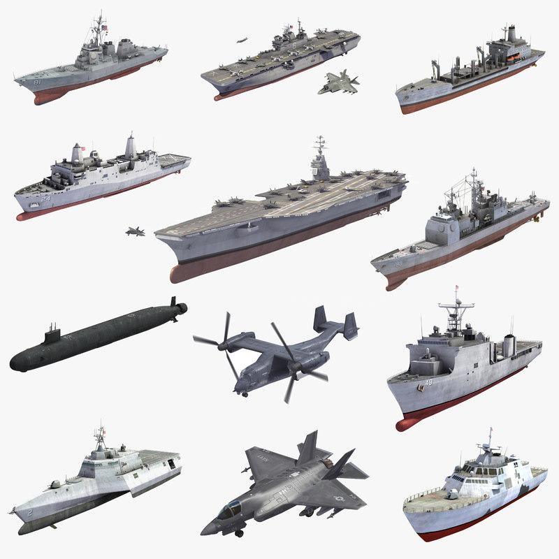 navy usn 3D
