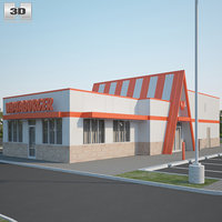 3D whataburger restaurant