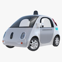 3D waymo self driving car model