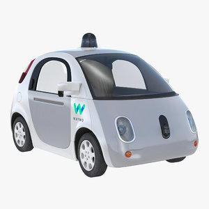 3D waymo self driving car