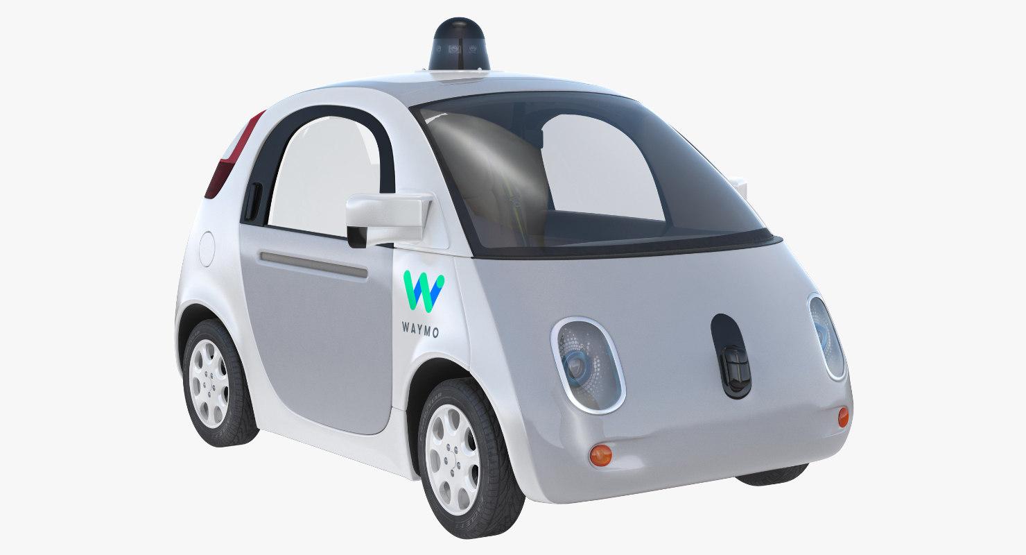 3D waymo self driving car