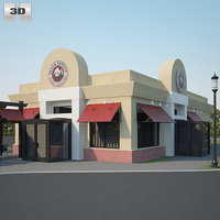 3D panda express restaurant