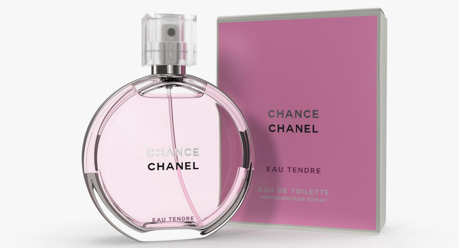 3d Parfum Chanel Chance Eau Turbosquid 1264966